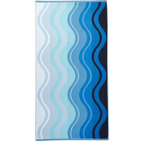 Wave 100% Cotton Beach Towel by Arus